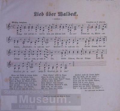 Lied über Waldeck; Liedtext