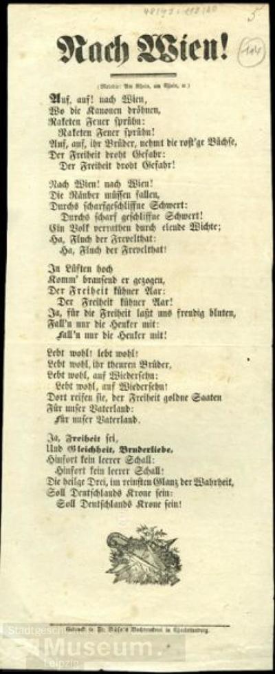 Nach Wien!; Liedtext