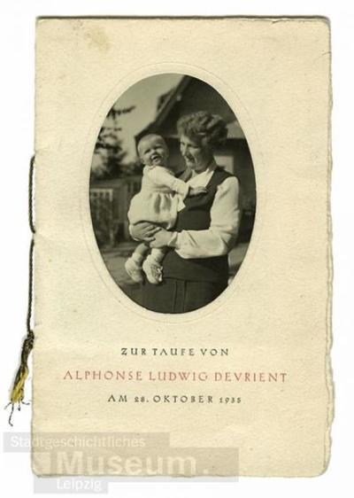 Zur Taufe Von Alphonse Ludwig Devrient Am 28oktober 1935