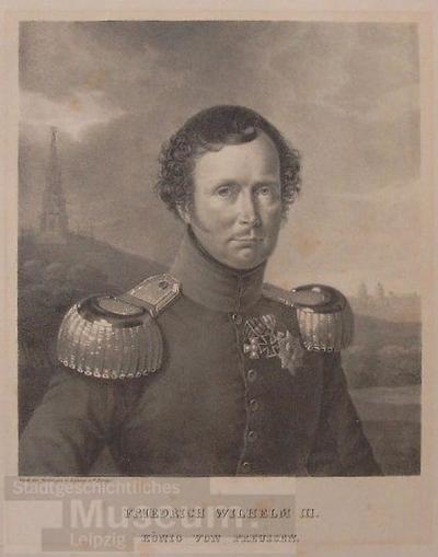 Friedrich Wilhelm III. König von Preussen; Lithografie