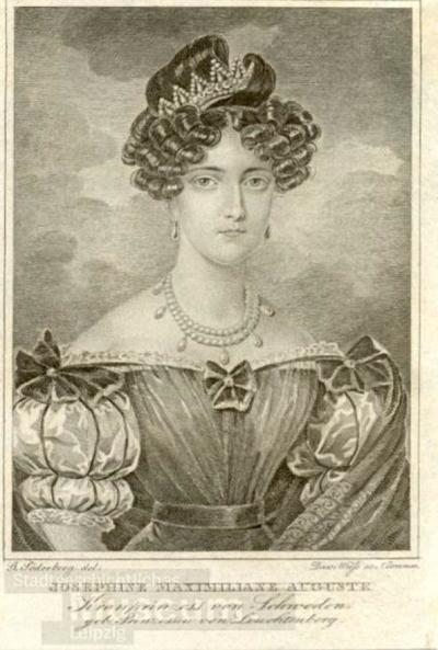 Josephine Maximiliane Auguste Kronprinzess von Schweden; Stahlstich