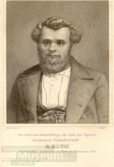 Robert Blum; Stahlstich; Erinnerungsblatt