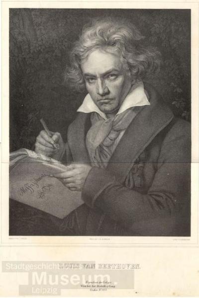 Louis van Beethoven; Lithographie