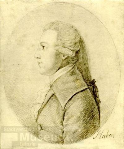 Bildnis Ludwig Ferdinand Huber; Lichtdruck