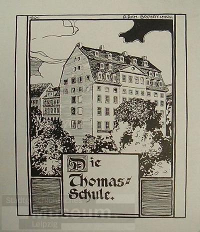 Die Thomasschule; Zeichnung