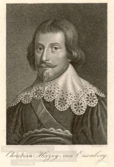 Christian Herzog von Eisenberg; Radierung