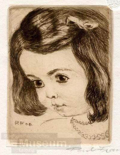 Mädchenbildnis; Künstlerverein für Dr. W. Sieler (Mappe 7); Radierung