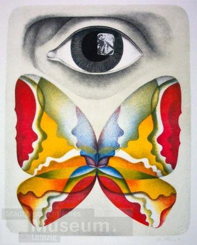 Schmetterling; Du, unsere Zeit (Mappe 1); Lithographie