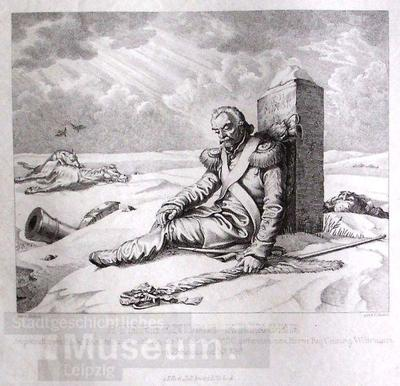 Sterbender Krieger; Kunstvereinsblatt für 1830; Grafik