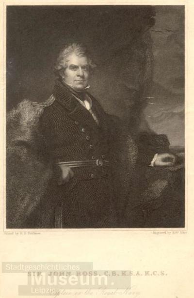 Sir John Roß; Stahlstich