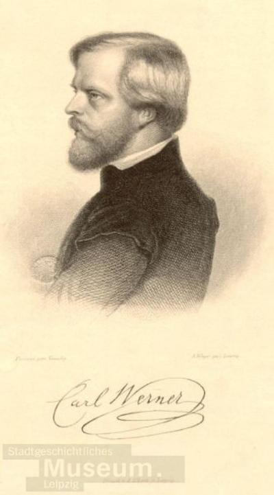 Carl Werner; Stahlstich