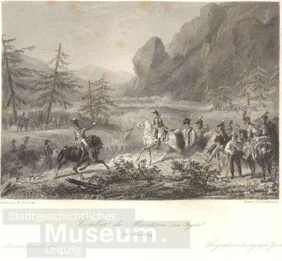 Combat de Mautern (en Styrie); Gallerie Historique de Versailles, Bl. 894; Stahlstich