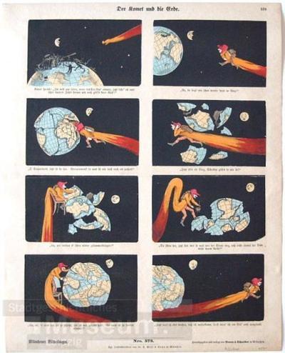 Der Komet und die Erde.; Bilderbogen