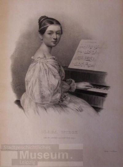 Image from object titled Clara Wieck; Lithografie