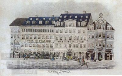 Vor dem Brande. 1846.; Lithographie
