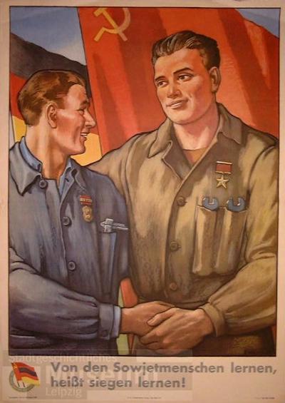 Image from object titled Von der Sowjetunion lernen, heißt siegen lernen!; Plakat
