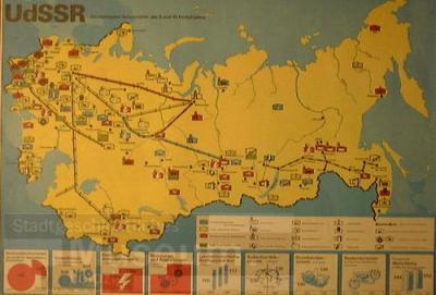 UdSSR Die wichtigsten Bauvorhaben des 9. und 10. Fünfjahrplans; Plakat