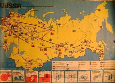 UdSSR- Die wichtigsten Bauvorhaben des 9. und 10. Fünfjahrplans; Agitationsplakat