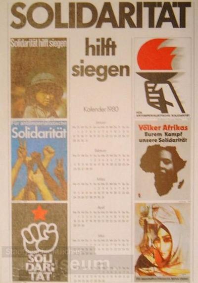 Solidarität hilft siegen; Agitationsplakat