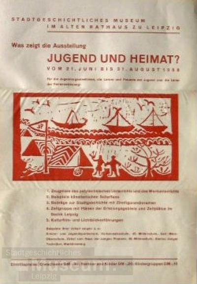 Image from object titled Was zeigt die Ausstellung Jugend und Heimat?; Veranstaltungsplakat