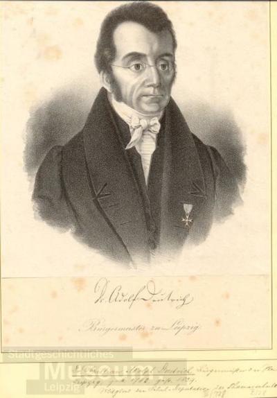Bildnis Adolf Deutrich; Lithographie