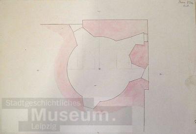 Image from object titled Thurm, II. Geschoss; Zeichnung; Bauzeichnung