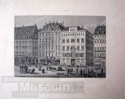 Die Kauf Halle in Leipzig.; Stahlstich