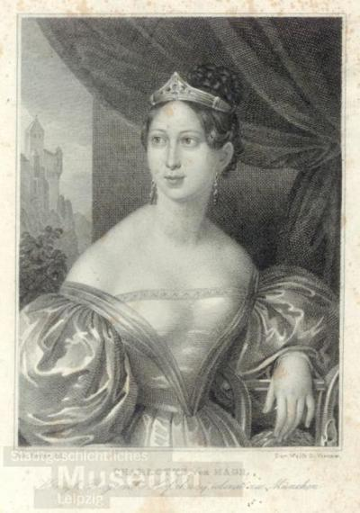 Charlotte von Hagn; Stahlstich