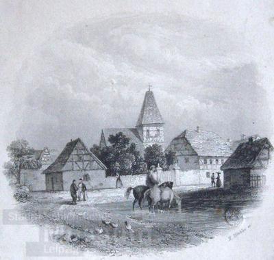 Lindenau; Stahlstich
