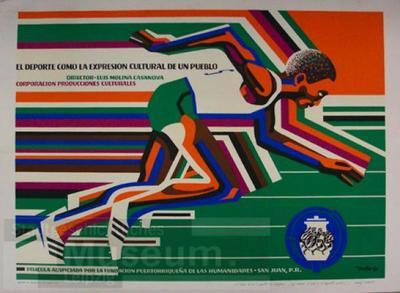El Deporte como la expresion cultural de un pueblo; Schrift-und Bildplakat