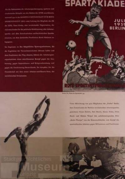 Spartakiade; Schrift- und Bildplakat