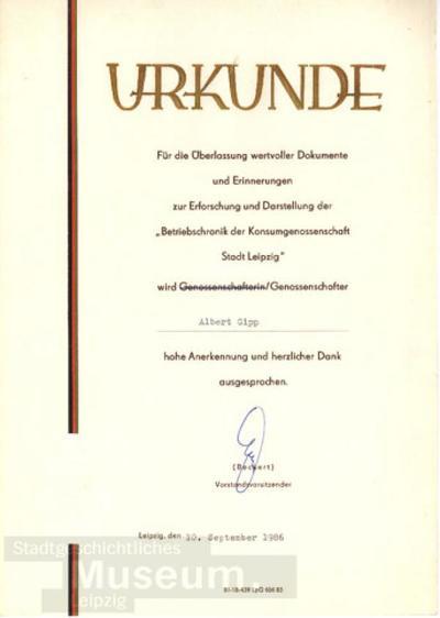 Urkunde Versorgungskontor Papier Und Bürobedarf Berlin Production