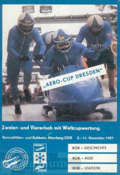 Aero-Cup Dresden 1987; Programmheft