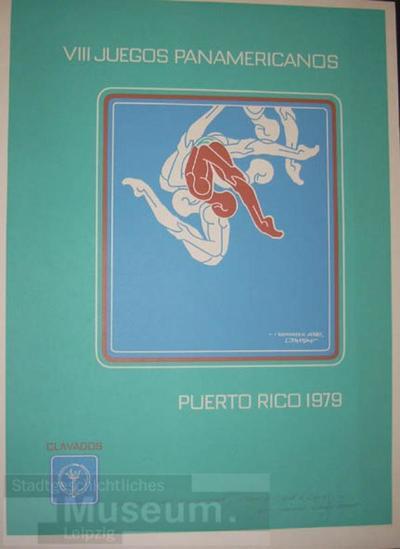 Plakat VIII. JUEGOS PANAMERICANOS; Plakat