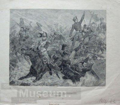 Schlacht an der Katzbach; Xylographie