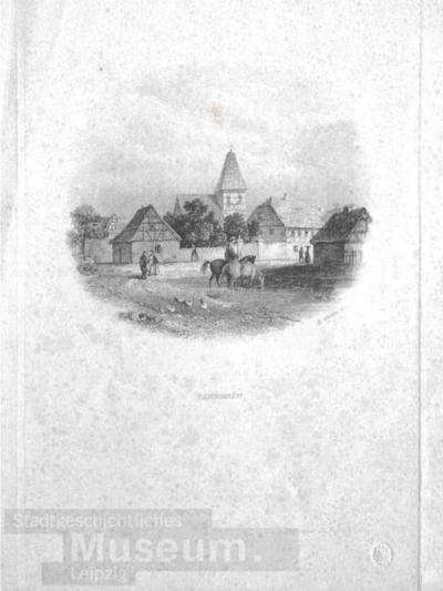 Blick auf Lindenau; Stahlstich