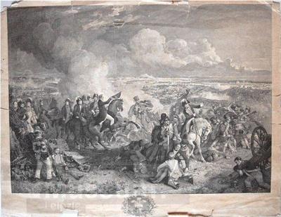 Schlacht bei Waterloo; Radierung