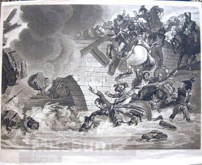 The Battle of Leipsic; Radierung