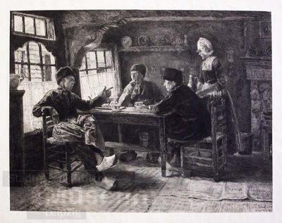 Holländisches Interieur; Radierung