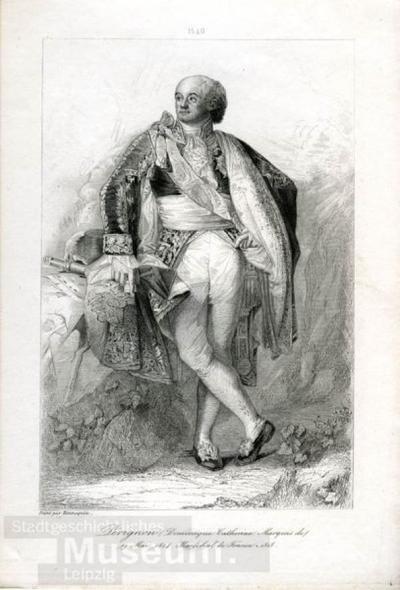 Porträt des Dominique Marquis de Pérignon, Marschall von Frankreich; Porträt