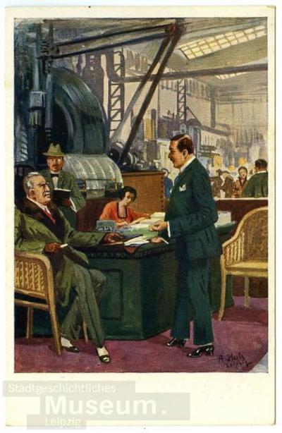 6. Einkäufer und Verkäufer; Postkarte