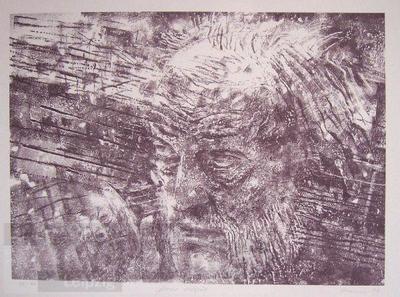 Masur dirigiert; Lithografie