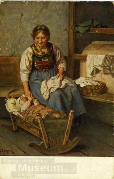 Mutterglück; Postkarte