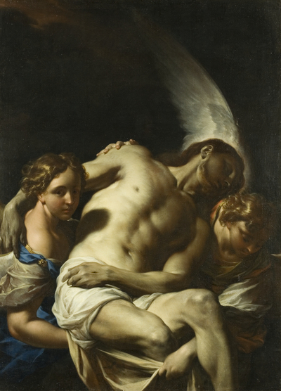 Christ Supported by Angels | Francesco Trevisani