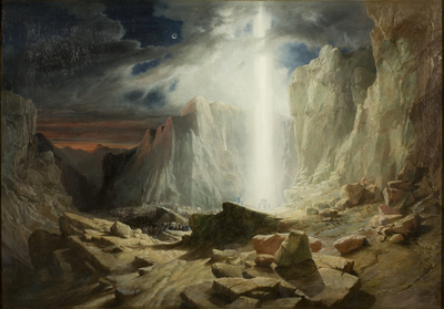The Israelites passing through the Wilderness, preceded by the Pillar of Light