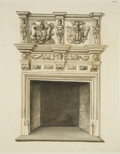Chimneypiece in former residence of Sir John Knight, Temple Street
