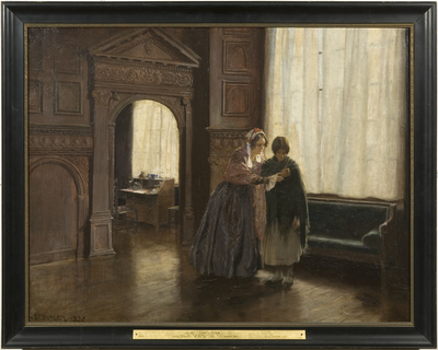 Mrs Mary Carpenter and her First Reformatory Girl, Annie Woolham, at Red Lodge, October 10th, 1854
