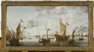 Shipping on the Schelde off Antwerp