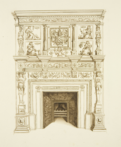 Chimneypiece, 15 Small Street (now occupied by Felix Farley's Printing Office)