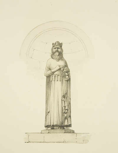 Bishop Geoffrey of Coutance [surely this is Robert Fitzroy, Earl of Gloucester] from Newgate (now at Arno's Vale, Brislington)